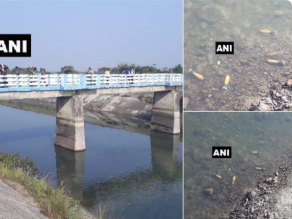 Four live mortar cells found in Teesta Canal in Siliguri West Bengal