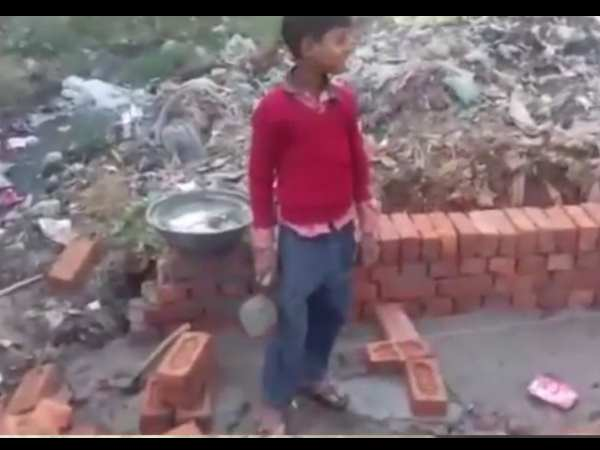 BJP MP reprsentative using children to do labour in Farrukhabad