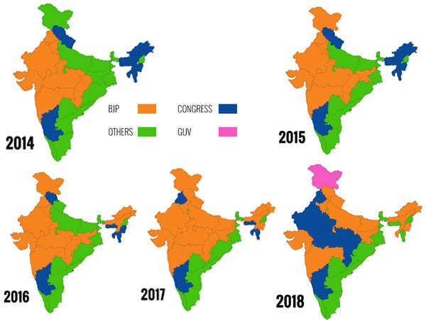 विधानसभा चुनावों के बाद कैसे बदला देश का रंग, जानिए कहां ...