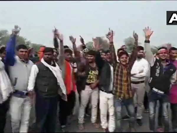 Rajasthan election results Sachin Pilot Supporters block road in Karauli