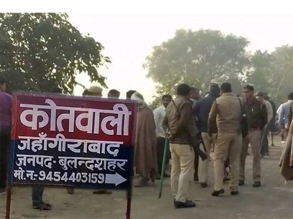 Police controlled situation after remains of cow found in jahangirabad