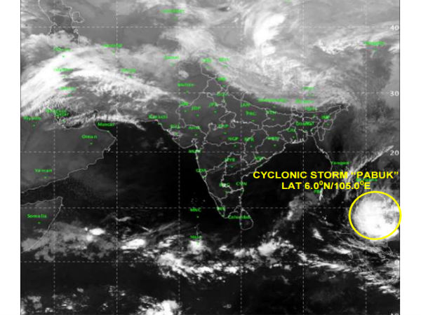 India Meteorological issues alert over emergence cyclone Pabuk in Andaman Islands