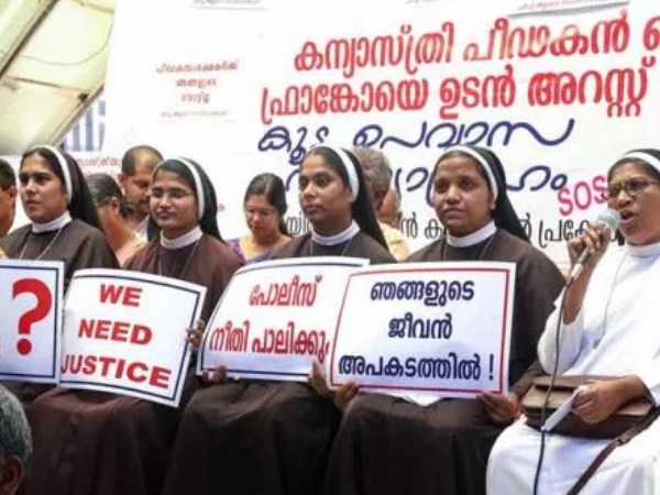 Four nuns who protested against rape accused bishop transferred by church in kerala