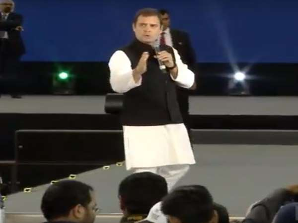 Congress President Rahul Gandhi in Dubai, says biggest problem we face in India today is unemployment