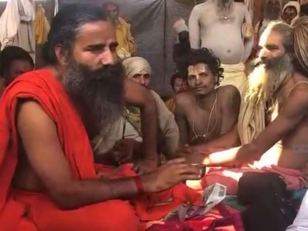 baba ramdev reached kumbh, did this special appeal to naga baba