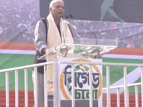 Former Union Minister Yashwant Sinha address mamata banerjee s mega rally in kolkata