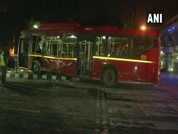 Delhi: At least 15 people injured after a collision between a truck and a bus near ITO flyover around 3 am today.
