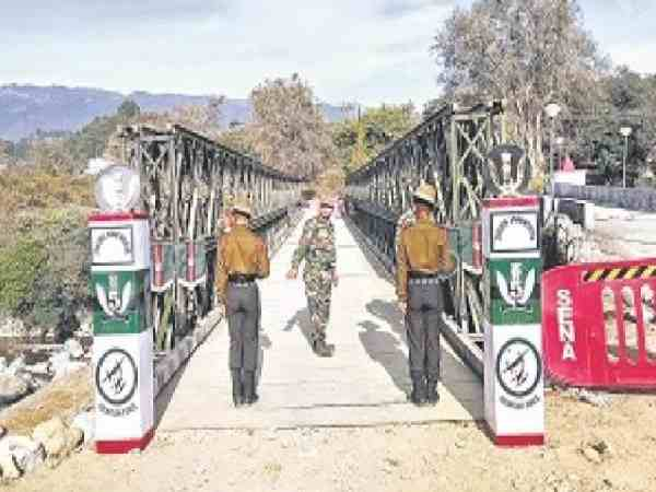Army built bridge after collpase within five days