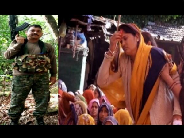 Pulwama Attack : वीरांगना ने शहीद की पार्थिव देह रखे ताबूत के 7 फेरे लेकर मांग में भरा सिंदूर