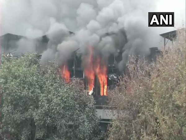 delhi: fire broke out at a paper card factory in Naraina Industrial Area