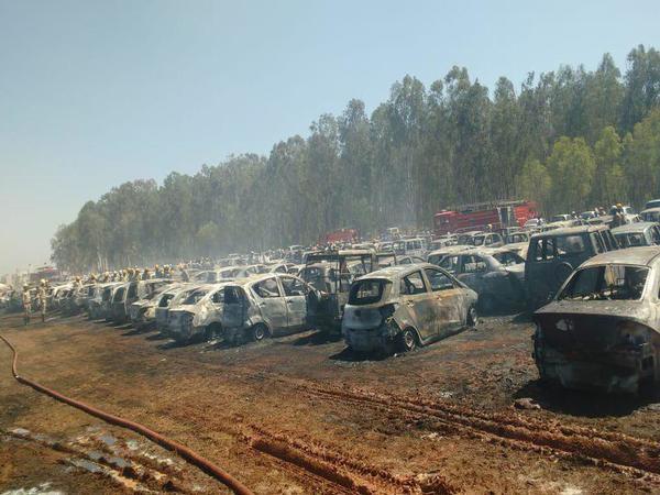 300 गाड़ियों को राख करने वाली एयरो इंडिया शो में लगी भयंकर आग की वजह जलती हुई सिगरेट!