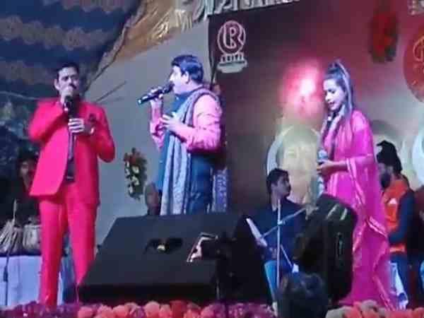 शहीद के इलाके में भाजपा सांसद मनोज तिवारी गा रहे थे गाना, वीडियो वायरल होने पर दी सफाई