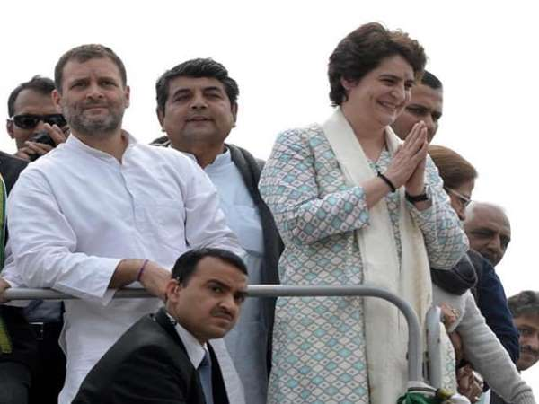 Priyanka Gandhi road show in Lucknow, See Photo
