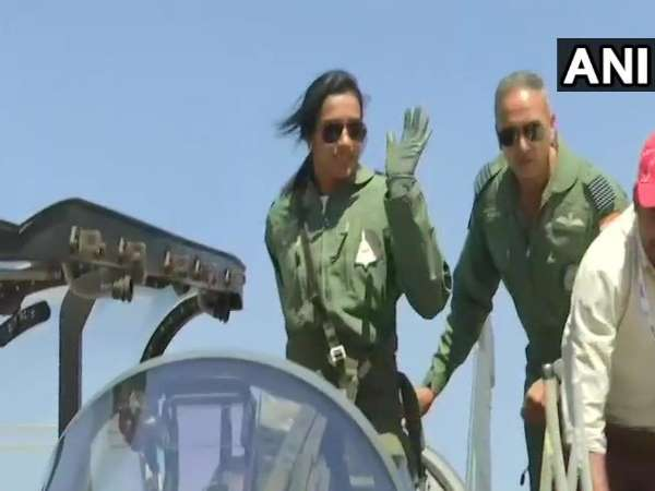 PV Sindhu Flies In Made-In-India Light Combat Aircraft Tejas in Bengaluru Air Show