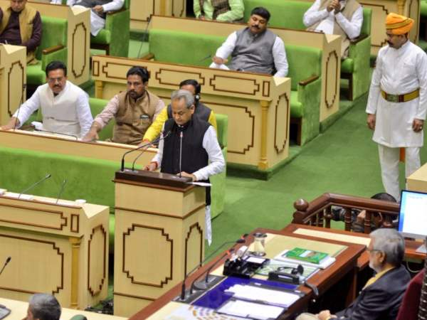 rajasthan budget 2019 by Ashok Gehlot in assembly