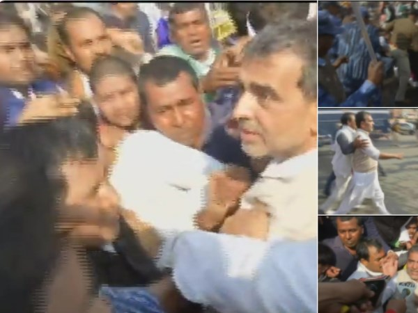 RLSP Chief Upendra Kushwaha injured during lathi charge in patna