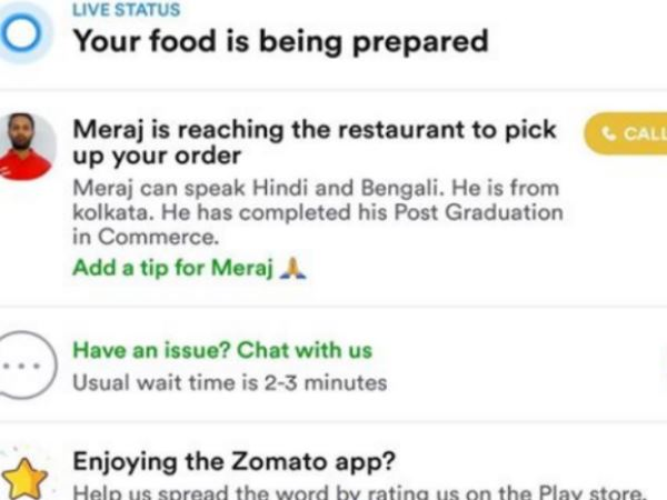 man reached to deliver zomato order to teenager was post graduate in commerce