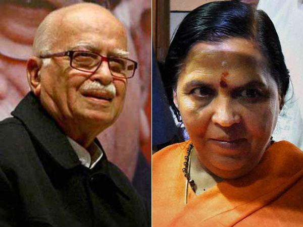 लाल कृष्ण आडवाणी को टिकट नहीं मिलने पर उमा भारती ने दिया बड़ा बयान