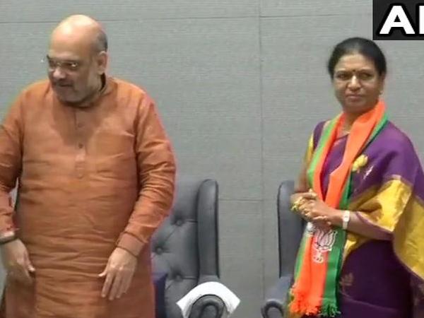 तेलंगाना में कांग्रेस को एक और बड़ा झटका, पूर्व मंत्री बीजेपी में हुईं शामिल