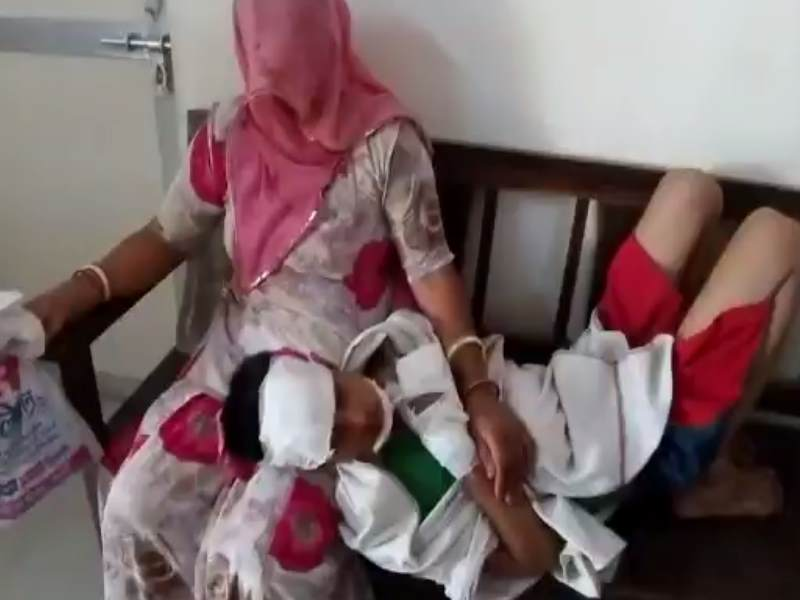 Child injured after the blast in jawala village of ajmer