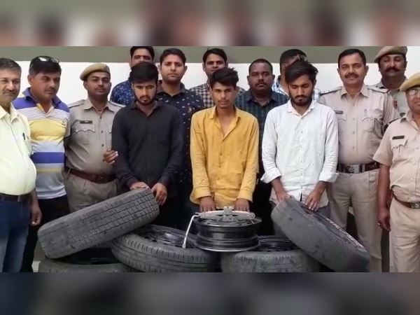 Three arrested in tyre theft case of kardhani police