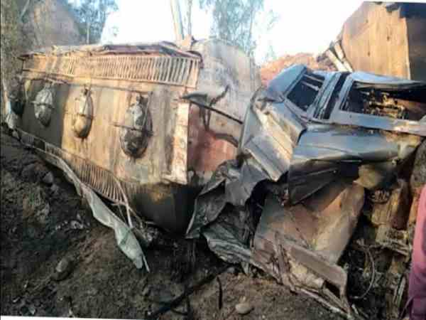 two men burnt alive after fire broke out in oil tanker