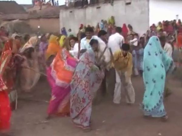 Womens playing Neja in many Villages of pratapgarh district