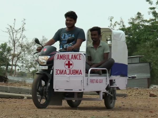 Bike Ambulance Made By engineering Student of Jhabua MP