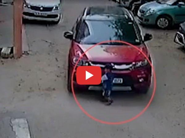 दिल दहला देने वाला VIDEO: फोन पर मशगूल कार चालक ने 3 साल के मासूम को कुचला, 20 मीटर तक घसीटता गया बच्चा