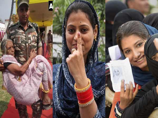 <strong>Pics: लोकसभा चुनाव में वोटिंग की 15 चुनिंदा तस्वीरें</strong>