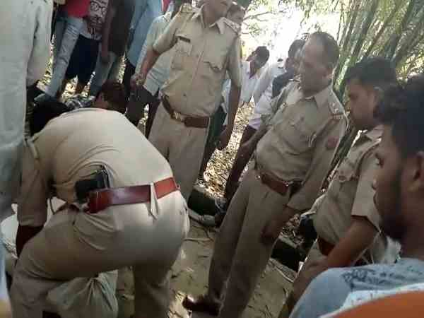 a handicap body found in the nearby village in hapur