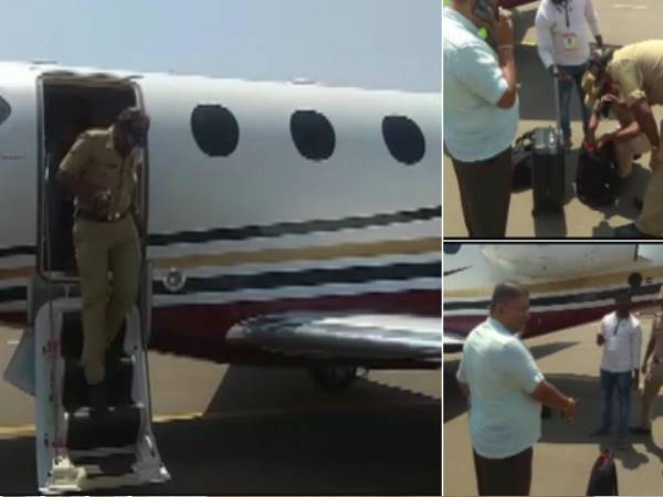 Koppal: EC officials conducted a search of the aircraft used by former Prime Minister HD Deve Gowda