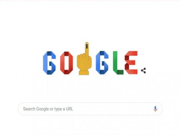 google tells the importance of voting through its homepage doodle