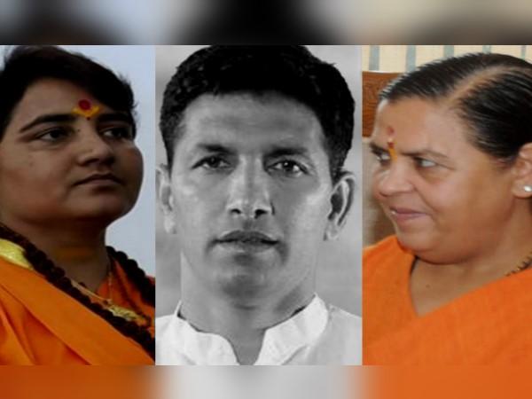 सोमवार को भोपाल में मिलीं उमा भारती व प्रज्ञा ठाकुर