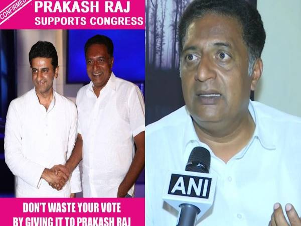 Prakash Raj files complaint with EC against one Mazhar for spreading fake news through a picture