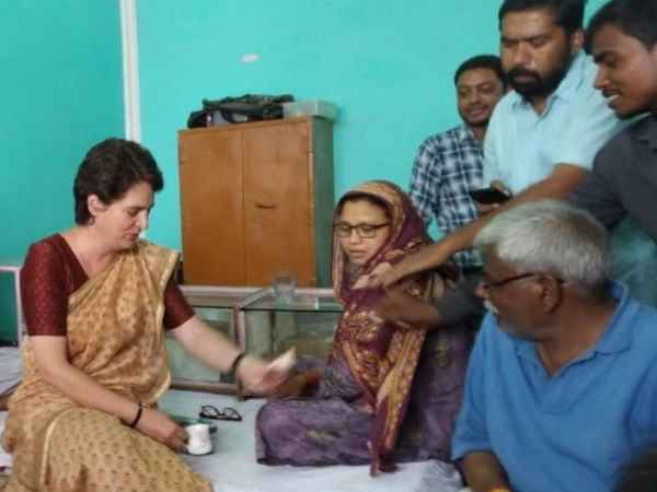 priyanka gandhi asks whether congress workers campaign in area