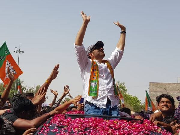 Sunny Deol Road Show in Ajmer And Barmer For Loksabha elections 2019