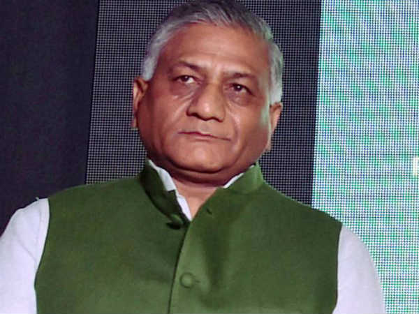 Union Minister V K Singh said Ram temple will be built when God wants