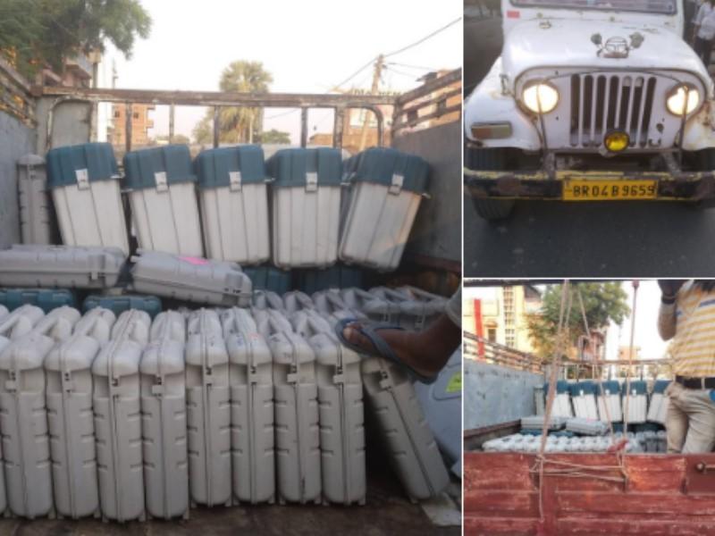 बिहार में पकड़ी गई EVM से लदी गाड़ी, तेजस्वी ने चुनाव आयोग से मांगा जवाब