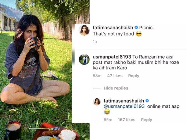 रमजान में नाश्ते की प्लेट के साथ फोटो शेयर करने पर हुईं ट्रोल, फातिमा सना शेख ने दिया जवाब तो हुई बोलती बंद