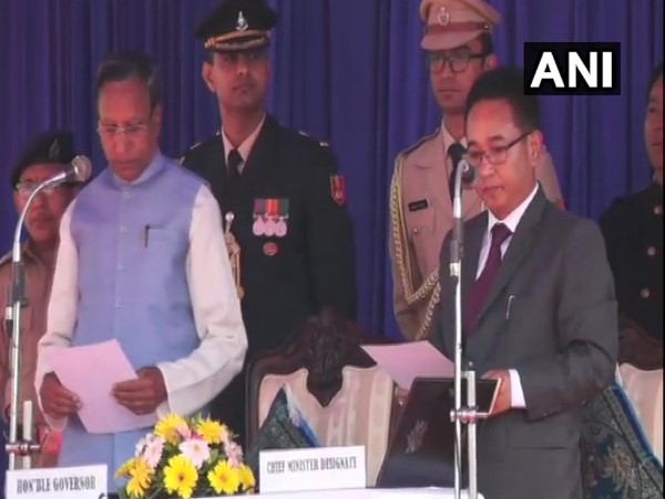 prem Singh Golay sworn in as the Chief Minister of Sikkim