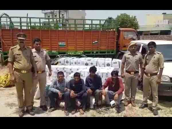 police seized alcohol worth 10 lakh rupees