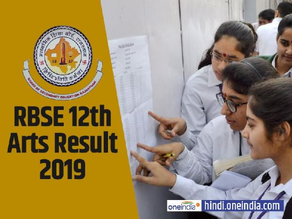 RBSE 12th Art Result 2019: rajasthan board 12th arts results will release on this date