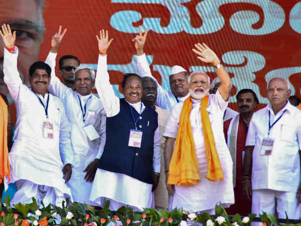lok sabha election results 2019: कर्नाटक में BJP को भारी बढ़त, कांग्रेस-JDS पिछड़ी