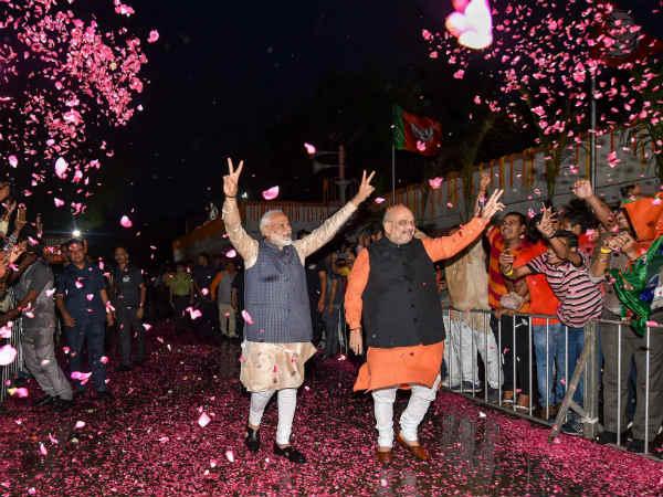 Lok Sabha Election Results 2019: भाजपा ने रचा  इतिहास, 288 पर जीत, 15 पर आगे