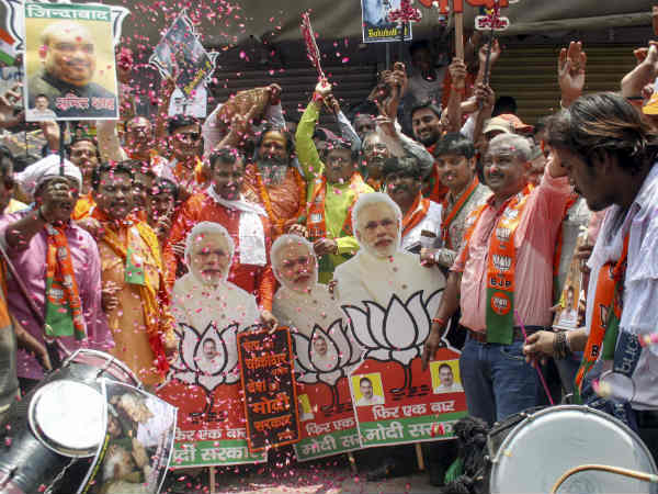 अकेले दम पर 2014 में मिली सीटों से आगे निकली भाजपा