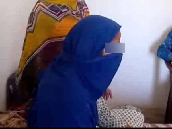 Riot victim lady physical attack in Muzaffarnagar