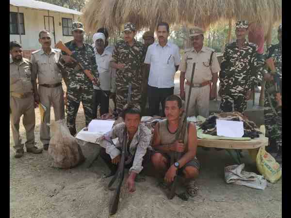 two nepali hunters caught by ssb jawans for hunting deer and Nilgai