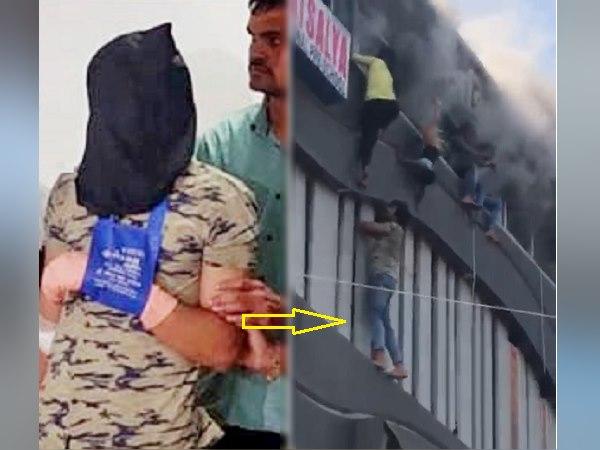 सूरत अग्निकांड के वीडियो को देख जिसे लोग बता रहे हीरो, उसे पुलिस ने बतौर मुख्य आरोपी पकड़ा