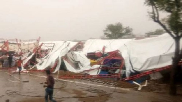 Rajasthan: pandaal in Barmer collapsed, several dead pm modi and amit shah expressed condolences